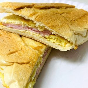 Breakfast Sandwich (ham, cheese, eggs)